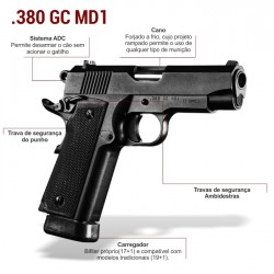 Pistola Imbel .380 GC MD1